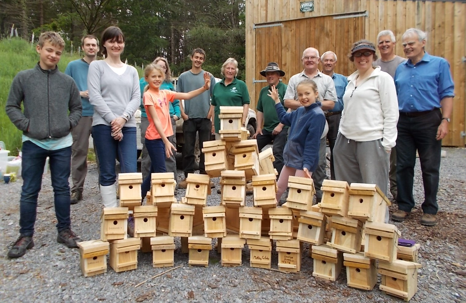 50 nest boxes ready to go (photo DR)