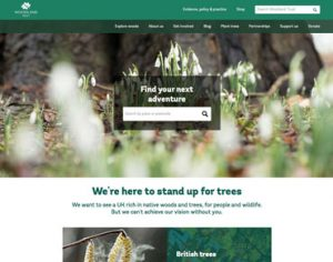 Woodland Trust website