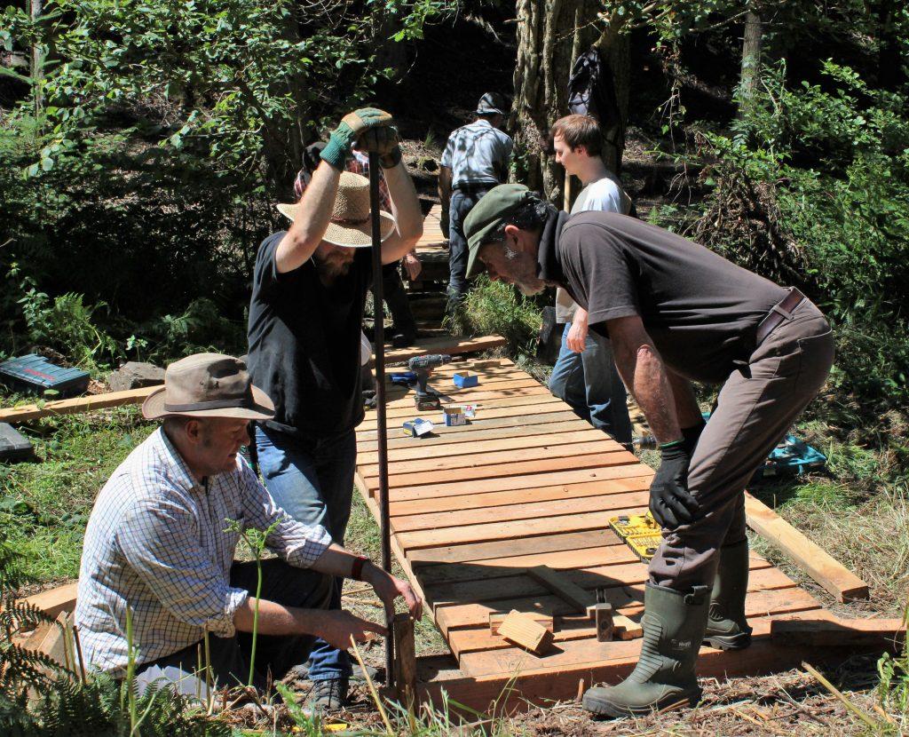 FIngle Woods volunteers